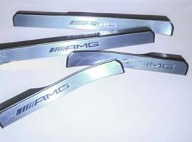 Пороги AMG W221 с подсветкой