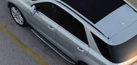 Пороги ступеньки Mercedes GLE W166