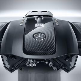Накладка мотора карбон AMG GT